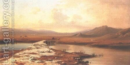 Mount Lebanon and Anti-Lebanon 1855-60 by Antal Ligeti - Reproduction Oil Painting