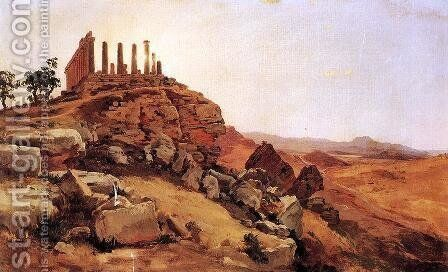Greek Temple by Antal Ligeti - Reproduction Oil Painting