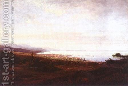View of Fiume 1882 by Antal Ligeti - Reproduction Oil Painting