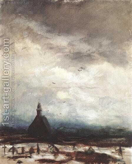 Stormy Landscape c. 1915 by Laszlo Mednyanszky - Reproduction Oil Painting