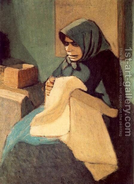 The Artists Mother 2 by Janos Nagy Balogh - Reproduction Oil Painting