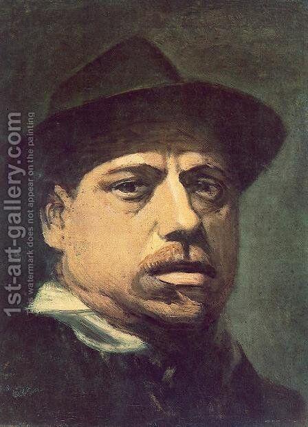 Self-portrait 2 by Janos Nagy Balogh - Reproduction Oil Painting