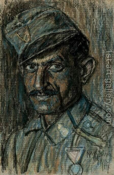 Head of a Soldier 1917 by Istvan Nagy - Reproduction Oil Painting