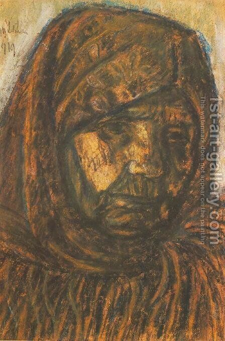 Old Woman 1919 by Istvan Nagy - Reproduction Oil Painting