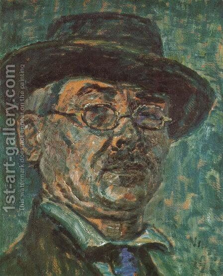 Self-portrait 1920 by Istvan Nagy - Reproduction Oil Painting