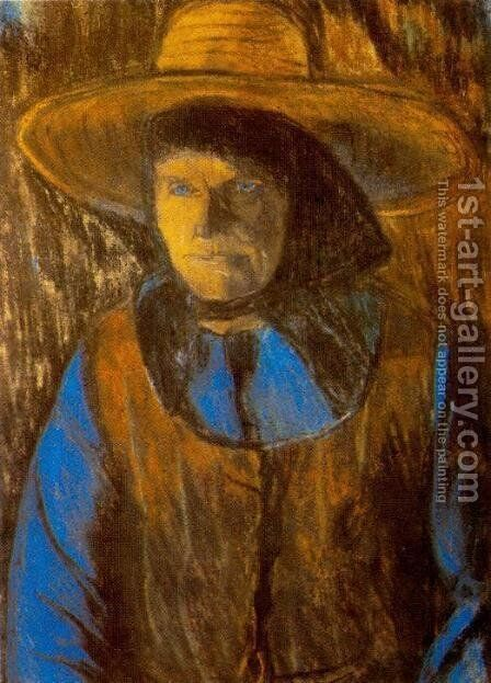Old Woman with Hat end of 1920s by Istvan Nagy - Reproduction Oil Painting