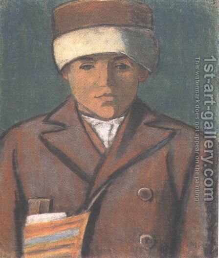 Schoolboy c. 1932 by Istvan Nagy - Reproduction Oil Painting