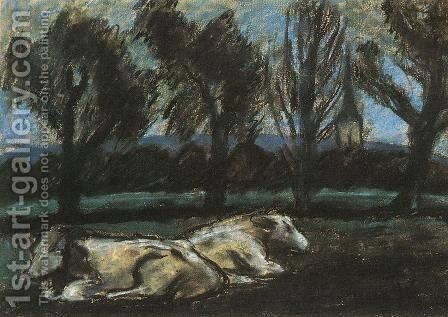 Resting Cows by Istvan Nagy - Reproduction Oil Painting