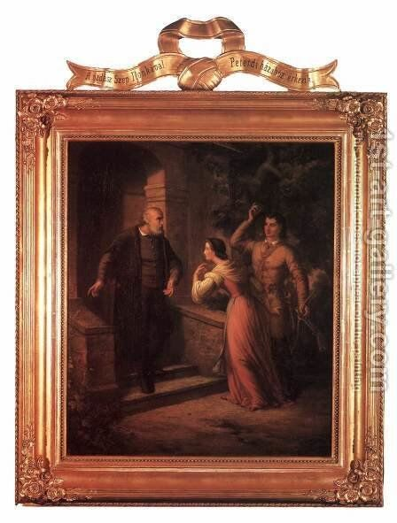 Series Szep Ilonka- III. The Introduction 1866 by Soma Orlai Petrich - Reproduction Oil Painting