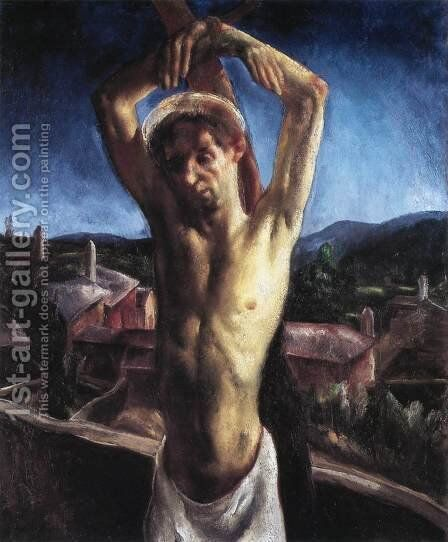 St. Sebastian 1927 by Jeno Paizs Goebel - Reproduction Oil Painting