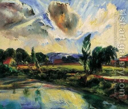 After the Storm After the Rain 1927 by Jeno Paizs Goebel - Reproduction Oil Painting