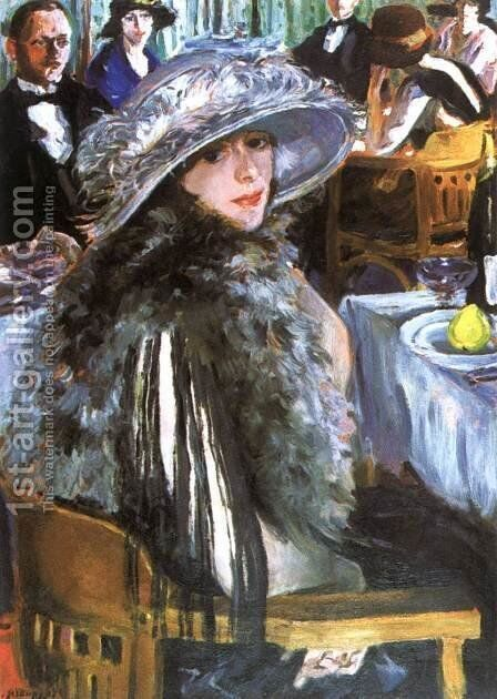 In the Bar 1926 by Izsak Perlmutter - Reproduction Oil Painting