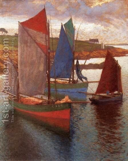 Sailing Boats by Hugo Poll - Reproduction Oil Painting