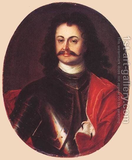 Portrait of Ferenc Rakoci II 1710s by David the Elder Richter - Reproduction Oil Painting