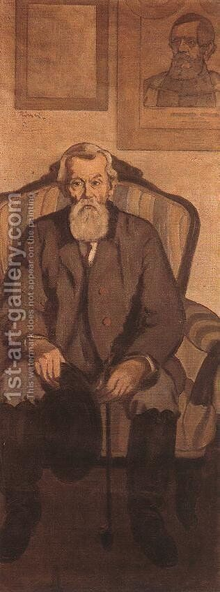 Uncle Rippl, an Admirer of Kossuth 1897 by Jozsef Rippl-Ronai - Reproduction Oil Painting
