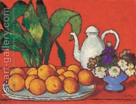Still-life with Oranges by Jozsef Rippl-Ronai - Reproduction Oil Painting
