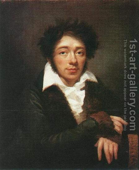 Portrait of a Man 1813 by Janos Rombauer - Reproduction Oil Painting