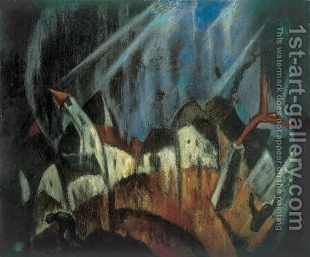 Storm 1923 by Janos Schadl - Reproduction Oil Painting
