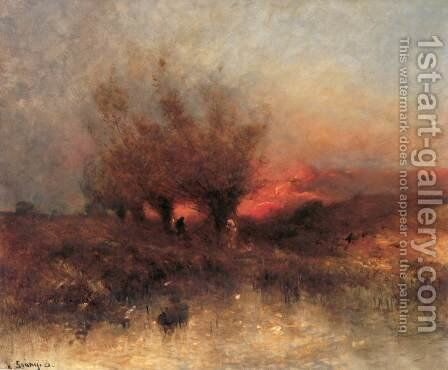 Sunset by Bela Spanyi - Reproduction Oil Painting