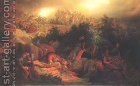 The Battle at Mohacs 1866 by Bertalan Szekely - Reproduction Oil Painting