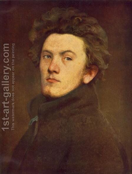 Self-portrait 1860 by Bertalan Szekely - Reproduction Oil Painting