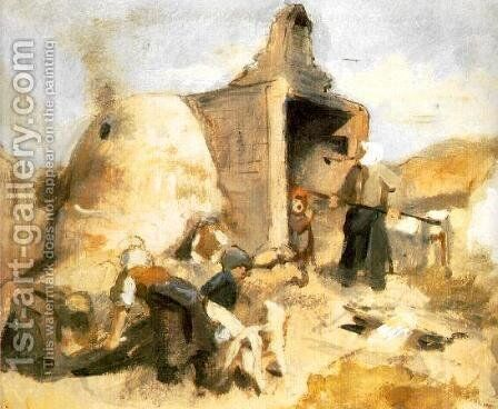 Brickburners 1857 by Bertalan Szekely - Reproduction Oil Painting