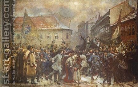 Rise up, Hungarian 1898-1937 by Janos Thorma - Reproduction Oil Painting