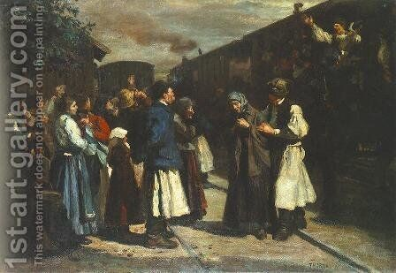 The First of October 1903 by Janos Thorma - Reproduction Oil Painting