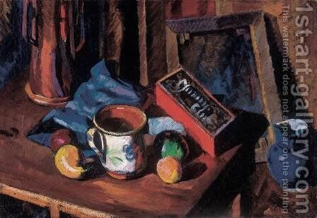 Atelier Still-life with Blue Jar 1919 by Dezso Tipary - Reproduction Oil Painting