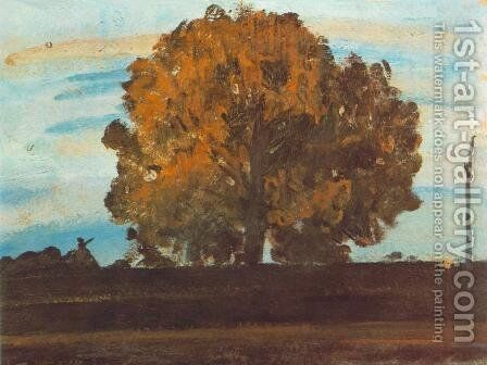 Great Tree at Martely 1910s by Janos Tornyai - Reproduction Oil Painting