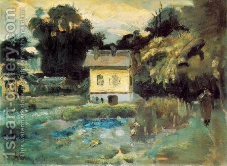 View at Szentendre 1933 by Janos Tornyai - Reproduction Oil Painting