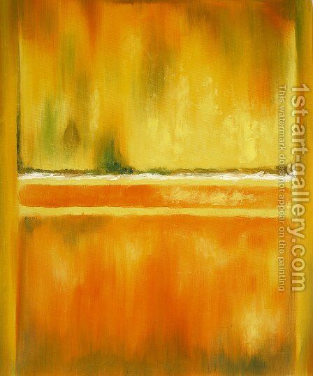 No. 14-10 Yellow Greens by Mark Rothko (inspired by) - Reproduction Oil Painting