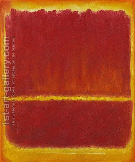 Number 12, 1951 by Mark Rothko (inspired by) - Reproduction Oil Painting