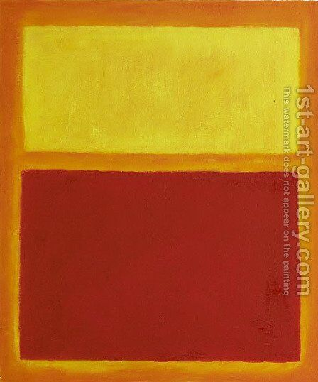 Orange and Yellow by Mark Rothko (inspired by) - Reproduction Oil Painting