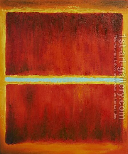 Saffron, 1957 by Mark Rothko (inspired by) - Reproduction Oil Painting