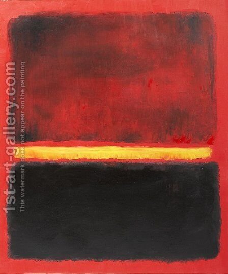 Untitled 1956 by Mark Rothko (inspired by) - Reproduction Oil Painting