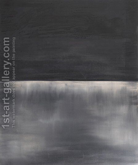 Untitled (black on gray) 1969 by Mark Rothko (inspired by) - Reproduction Oil Painting