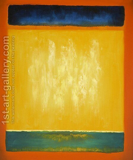 Untitled (blue, yellow, and green on red) by Mark Rothko (inspired by) - Reproduction Oil Painting