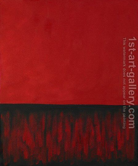 Untitled (Red and Black) by Mark Rothko (inspired by) - Reproduction Oil Painting