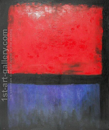 Untitled (Red, Blue over Black) by Mark Rothko (inspired by) - Reproduction Oil Painting