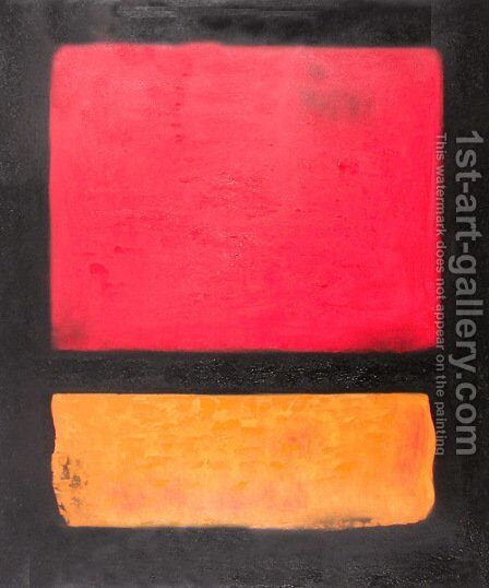 Untitled (Red, Orange over Black) by Mark Rothko (inspired by) - Reproduction Oil Painting