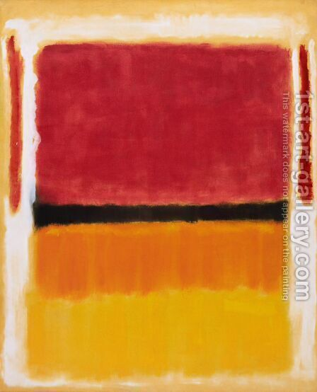 Untitled (Violet, Black, Orange, Yellow on White and Red), 1949 by Mark Rothko (inspired by) - Reproduction Oil Painting