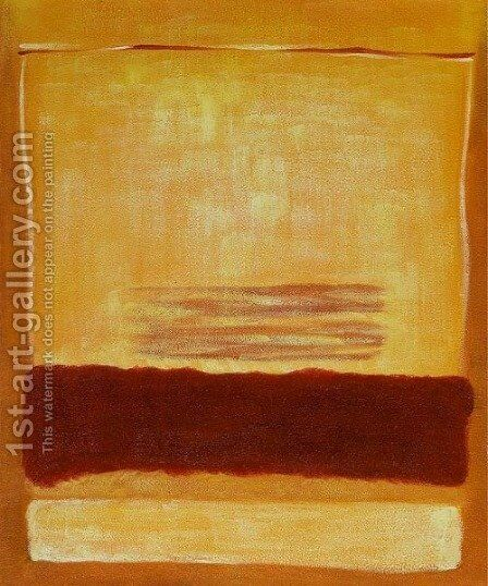 Untitled (Yellow and Red) 2 by Mark Rothko (inspired by) - Reproduction Oil Painting