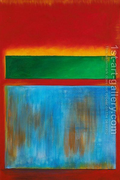 Violet, Green and Red 1951 by Mark Rothko (inspired by) - Reproduction Oil Painting