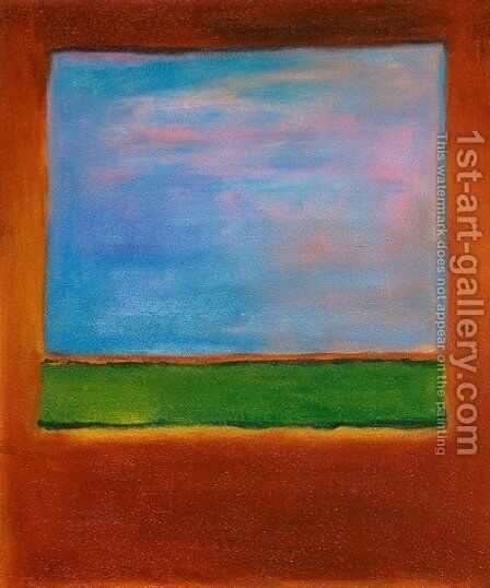 Violet, Green and Red, 1951 by Mark Rothko (inspired by) - Reproduction Oil Painting