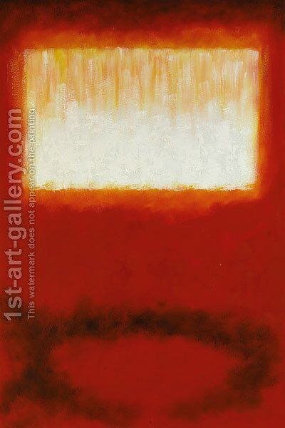 White Over Red by Mark Rothko (inspired by) - Reproduction Oil Painting