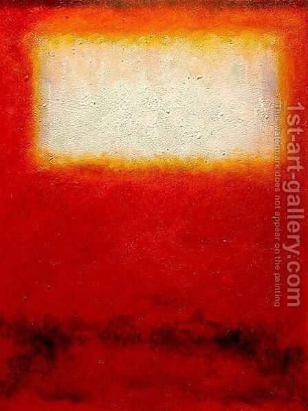 White over Red 2 by Mark Rothko (inspired by) - Reproduction Oil Painting