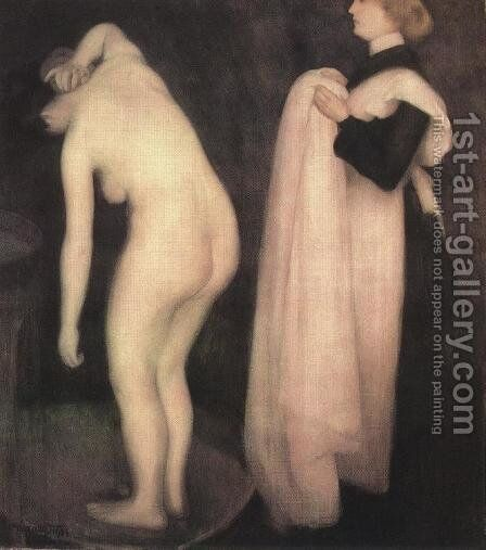 After the Bath 1903 by Janos Vaszary - Reproduction Oil Painting