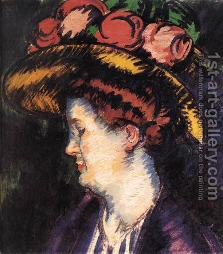 The Artists Wife 1900s by Janos Vaszary - Reproduction Oil Painting