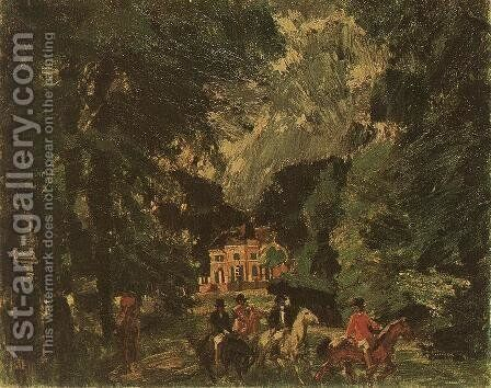 Riders in the Park 1919 by Janos Vaszary - Reproduction Oil Painting